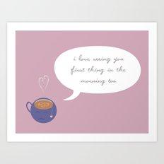 A Love Affair (With Tea) Art Print