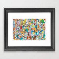 Morning Report Color Framed Art Print