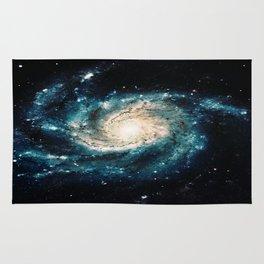 Ocean Blue Teal Spiral Galaxy Rug