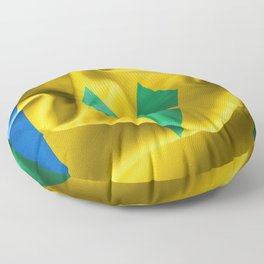 Saint Vincent and the Grenadines Flag Floor Pillow