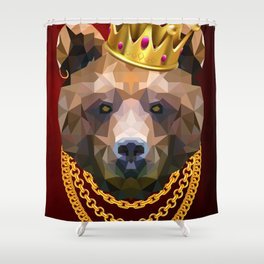 The King of Bears Shower Curtain