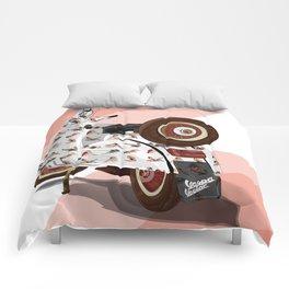 Vespa Vector PinUp Comforters