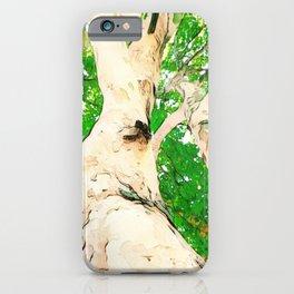 Tree camo bark and green canopy  iPhone Case