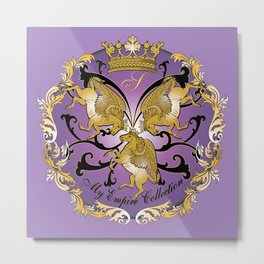 My Empire Collection Summer Set Purple Metal Print