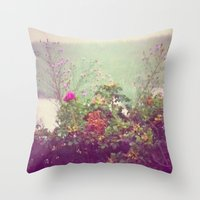 cape cod Throw Pillows featuring Cape Cod by Antha P