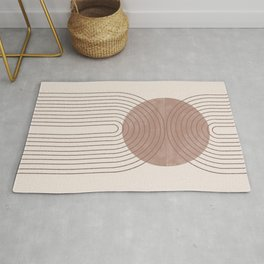 Abstract Modern Poster Arch  Rug