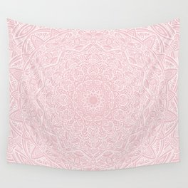 Most Detailed Mandala! Rose Gold Pink Color Intricate Detail Ethnic Mandalas Zentangle Maze Pattern Wall Tapestry