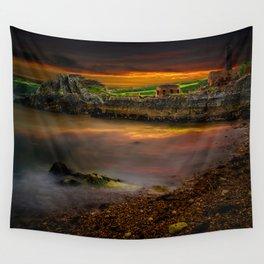 Porth Wen Brickworks Sunset Wall Tapestry