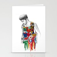 superhero Stationery Cards featuring Zayn Superhero  by Coconut Wishes