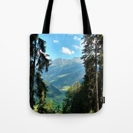 forest panorama kaunertal alps tyrol austria europe Tote Bag