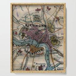 Vintage Richmond Virginia Civil War Map (1865) Serving Tray