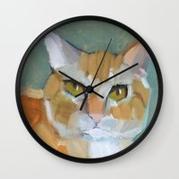 garfield Wall Clocks featuring Garfield by Suzanna Schlemm