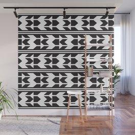 Haida Arrows Aztec Style Black White Wall Mural