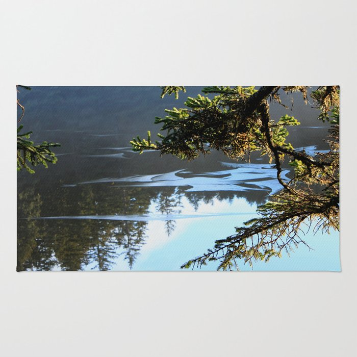 Ice Refelctions Photography Print Rug
