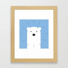 kiddies polar bear clock Framed Art Print