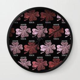 Four Leaf Clover Pattern Wall Clock
