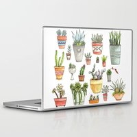 succulents Laptop & iPad Skins featuring Potted Succulents by Brooke Weeber