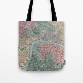 Vintage Map of London England (1865) Tote Bag