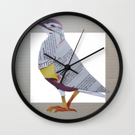 morel plover Wall Clock