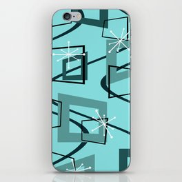 Mid Century Modern Minimalism Turquoise iPhone Skin
