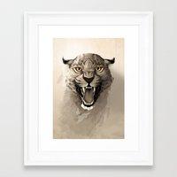 leopard Framed Art Prints featuring Leopard by Rafapasta