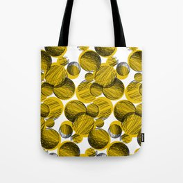 Squiggle Circle Repeat [yellow] Tote Bag