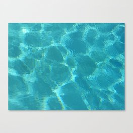 Turquoise Blue Water Canvas Print