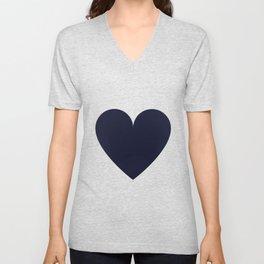 Hearts pattern - dark blue Unisex V-Neck