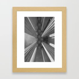 Looking Up Supreme Court Framed Art Print