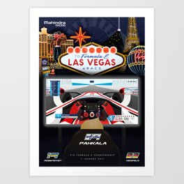 Mahindra Racing FIA Formula E Season Three Special Las Vegas eRace Poster Art Print