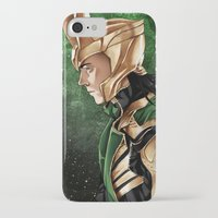 loki iPhone & iPod Cases featuring Loki by Natalie Nardozza