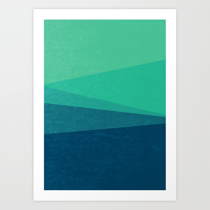 Stripe VIII Minty Fresh Art Print