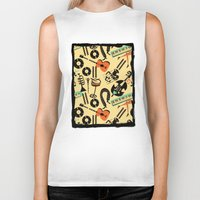 blankets Biker Tanks featuring Jazz Rhythm (positive) by Chicca Besso