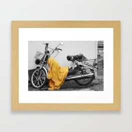 Broken Bike Framed Art Print
