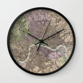 Vintage Map of London England (1872) Wall Clock