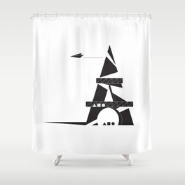 ABSTRACT_05_EIFFEL TOWER Shower Curtain