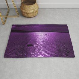 Ultraviolet Lakescene Scandinavian View Rug