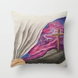 3D Paper Torn Cross Throw Pillow
