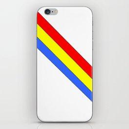 Flag of romania 4 -romania,romanian,balkan,bucharest,danube,romani,romana,bucuresti iPhone Skin