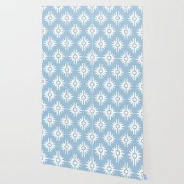 Mid Century Modern Bang Pattern 271 Pale Blue Wallpaper