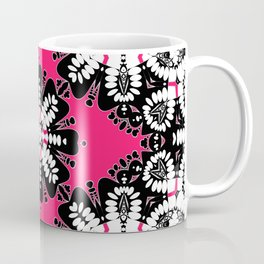 Geometric Tribal Hot Pink & Black Coffee Mug