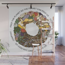 Feed the Planet Composting Wheel Wall Mural