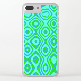 Mixed Polyps Green - Coral Reef Series 037 Clear iPhone Case