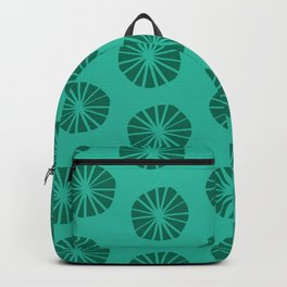 Mod Scandinavian Dandelions in Teal + Green Backpack
