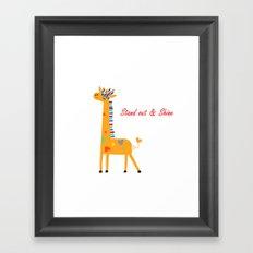 Tribal Giraffe Framed Art Print