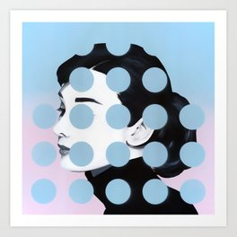 Audrey (Dots) by Famous When Dead Art Print