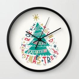 Rockin Christmas Wall Clock