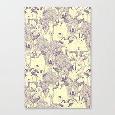 just goats purple cream Canvas Print