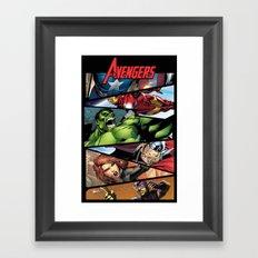 THE.AVENGERS  Framed Art Print