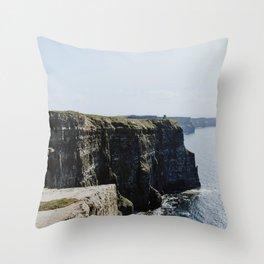 The Cliffs of Moher II Throw Pillow